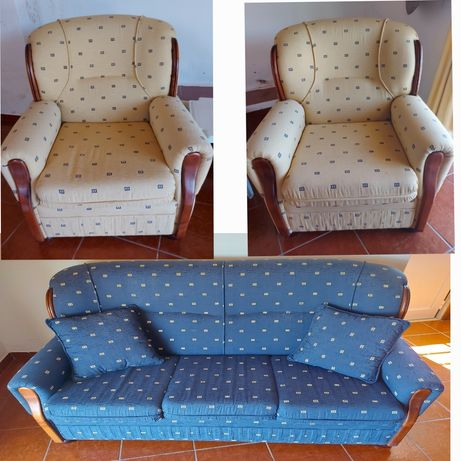 Conjunto de sofá + 2 cadeirões