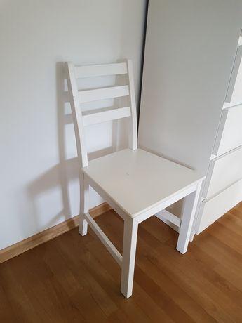 Krzesła białe Ikea drewniane!