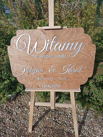 tablica powitalna, ślub, wesele