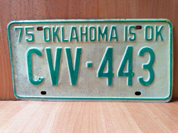 "Oryginalna amerykańska tablica rejestracyjna stan ""Oklahoma"""