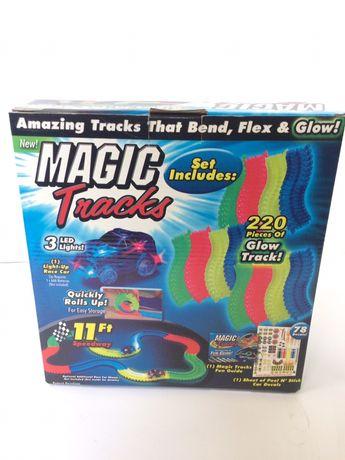 Игрушка конструктор светящаяся дорога трасса Magic Track с машинкой