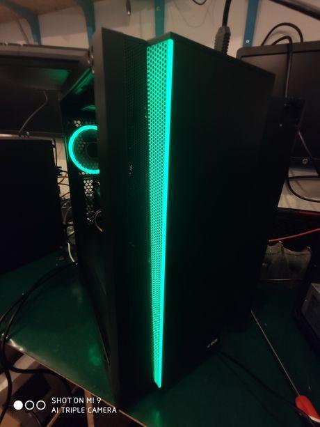 LED Komputer do gier i7, 16 GB, RTX 2070 8 GB DDR6, SSD+1 TB , Win10