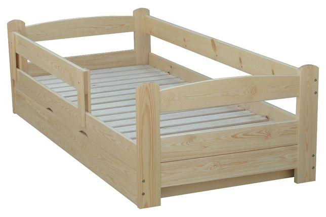 łóżko podnoszone z boku z pojemnikiem sosnowe TURBO 100x200