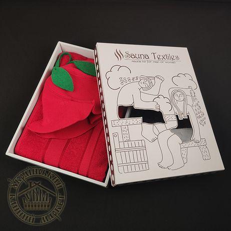 Подарочный банный женский набор. Комплект для бани и сауны 2в1