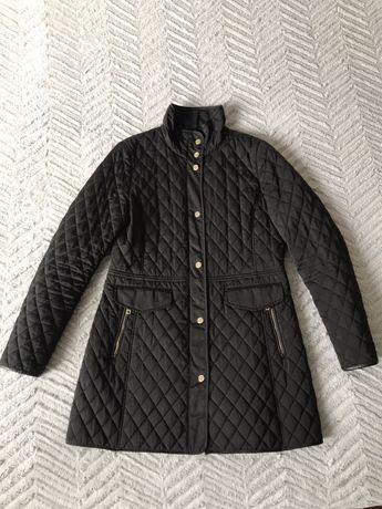 Kurtka/plaszcz pikowany czarny Massimo Dutti r L