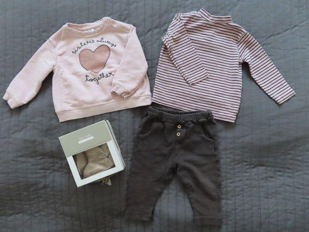 Ubranka dla dziewczynki ZARA 74 rozmiar BCM