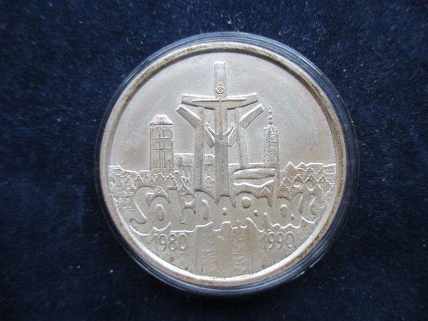 Srebrna moneta 100 000zł Solidarność Typ B !Oryginał.
