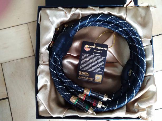Kabel przewód component Alphard DaVinci 3xRCA filtr ferrytowy 1,8m