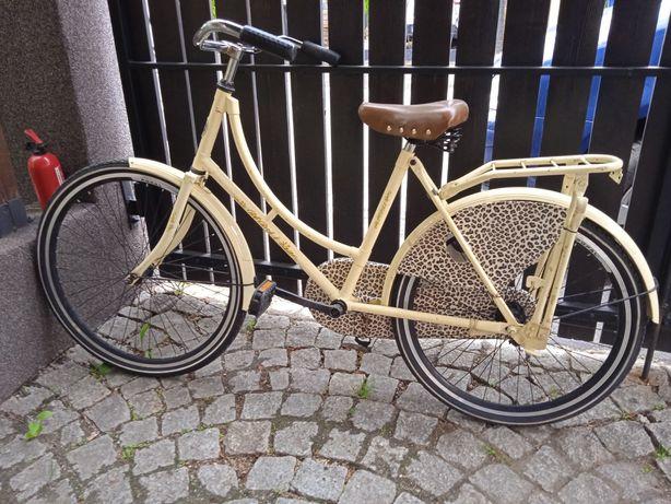 Rower damka klasyczny holender dla dziewczynki ok10-12 lat. 24-26 cali