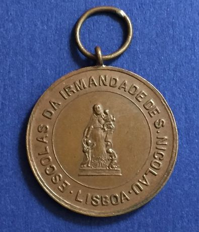 medalha Escolas da Irmandade de S. Nicolau - Lisboa