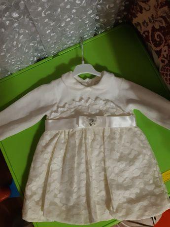 Велюрове плаття для дівчинки 9 місяців