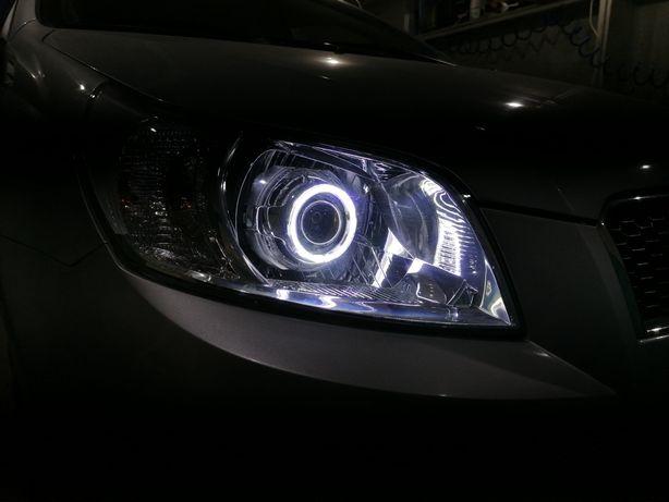 Установка и замена линз в оптику автомобиля, полировка оптики