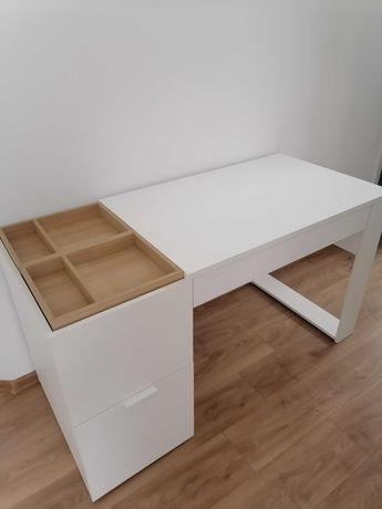 Komplet biała komoda i biurko