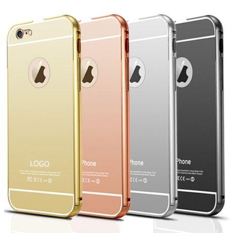 Capa Iphone 5 SE / 6 / 7 / 8 em Alumínio + Traseira Espelhada - NOVA