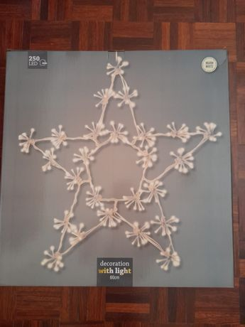 Estrela de Natal  com led ( 60 cm) interior ou exterior nova