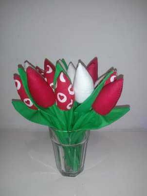Tulipany materialowe