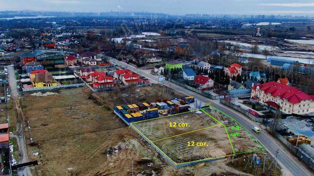Продам фасадный участок в Осокорках 24 сотки +50 кВт электричества