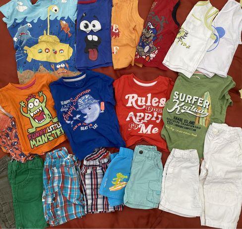 Lote Roupa Bebé verão 1 ano calcões e T-shirts