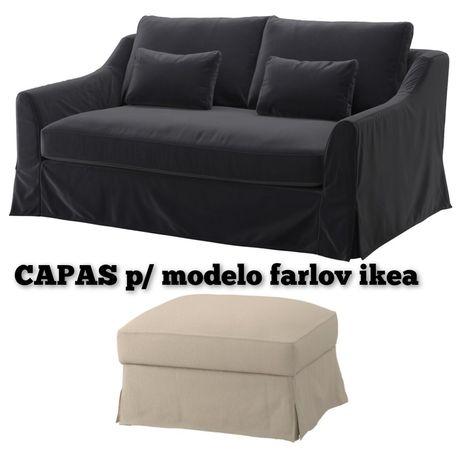 CAPAS SOFA 2l repousa pés Farlov ikea