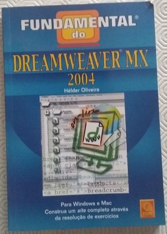 Livro - Fundamental do Dreamweaver MX 2004 -Edição FCA - Grupo LIDEL