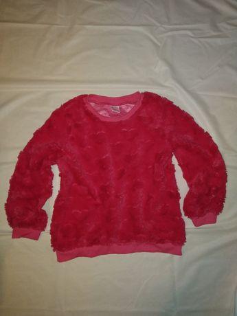 Różowa bluza w serca 122/128 Primark