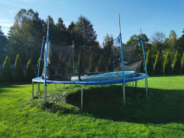 Trampolina używana średnica 490-500 cm basen gratis
