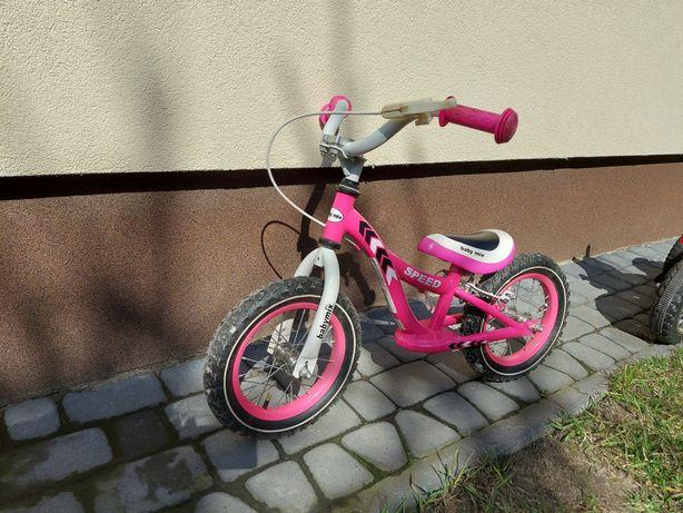 """Rowerek biegowy 12"""" róż"""