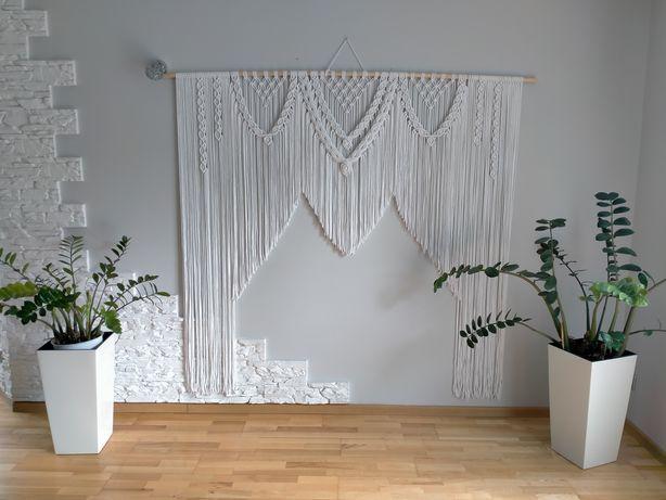 Ścianka ślubna makrama tło do zdjęć