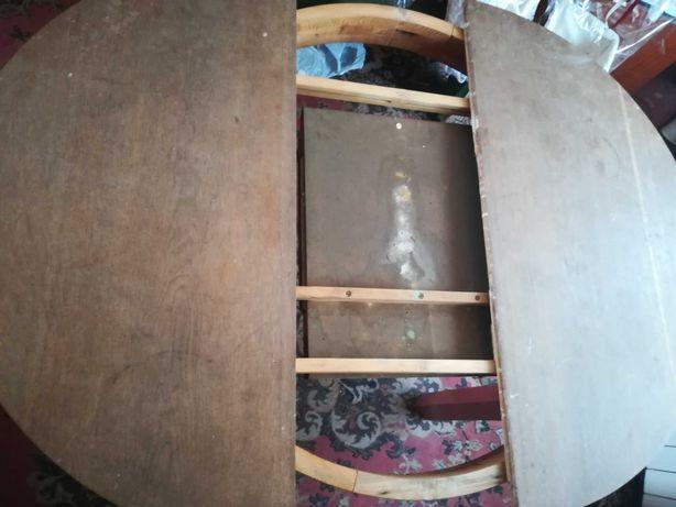 Stary stół okrągły antyk renowacja