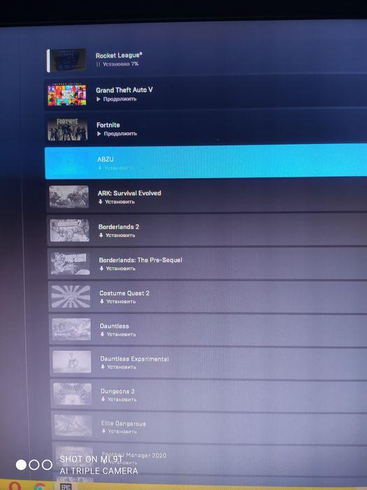 Продам аккаунт Epic Games с играми Сумы - изображение 1