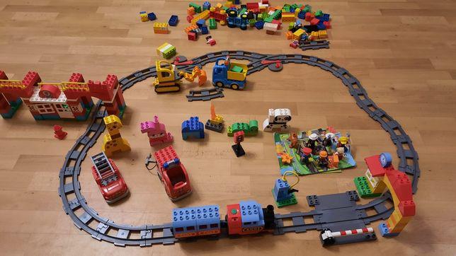 Конструктор Lego duplo (поезд, рельсы, пожарная станция, звери и т.д)