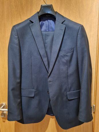Fato (blazer + calças) regular fit azul escuro