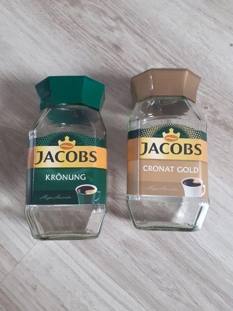 Duże słoiki po kawie JACOBS - zestaw 12 sztuk