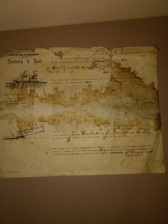 Stare znaczki i dokumenty