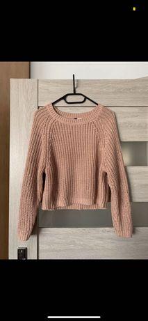 Sweter sweterek H&M różowy
