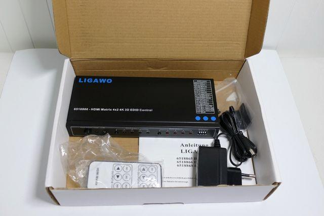 Rozdzielacz HDMI, Switch Ligawo 651886 HDMI Matrix 4x2 4K 2K