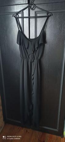 Sukienka damska na ramiaczkach długa