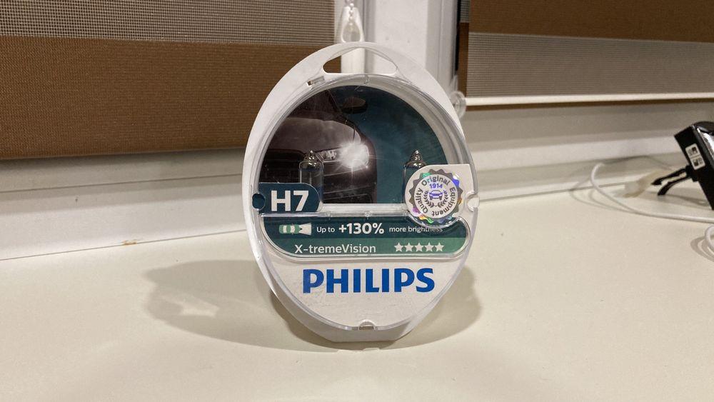 Лампы H7 Philips H7 X-treme VISION + 130% Новые Константиновка - изображение 1