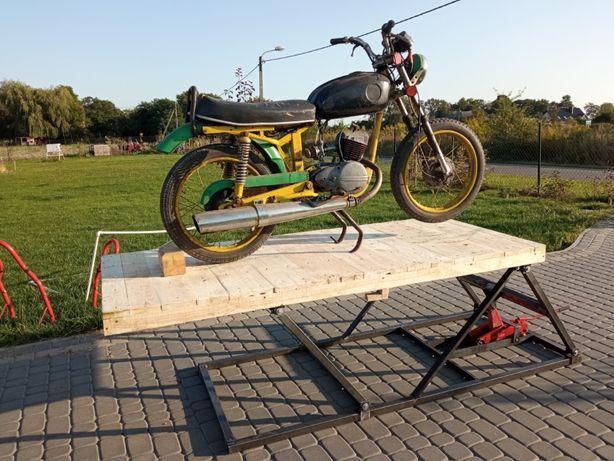 Podnośnik motocyklowy, stół warsztatowy, regulowana wysokość, mocny