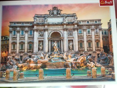 Puzzle fontanna di trevi 500 trefl