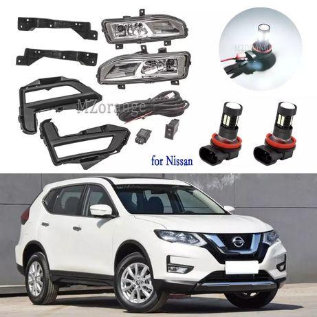 Противотуманные фары Nissan Rogue 2017-2020 Туманки ниссан рог бампер