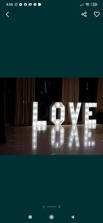 Napis Love - wynajme