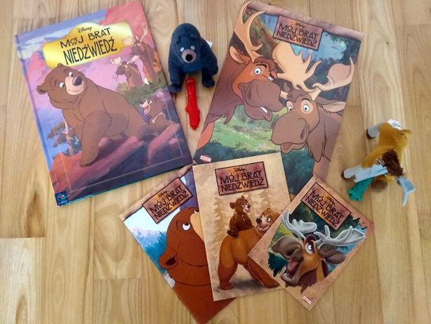 Książka Mój Brat Niedźwiedź Disney+ kolorowanki i 2 maskotki