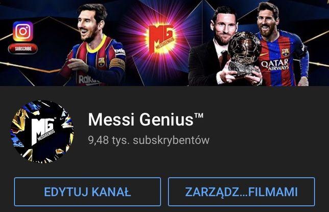 Kanal Youtube 9,400 Subskrypcji