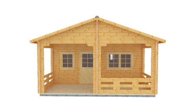 Drewniany domek całoroczny – USZATKA D 595x747 68,2m2