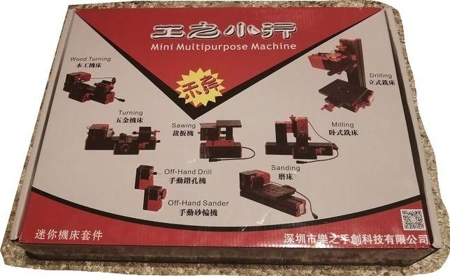 KIT DIY 6-1 Mini (Torno Mecanico, Fresadora, Engenho, mesa de corte..)