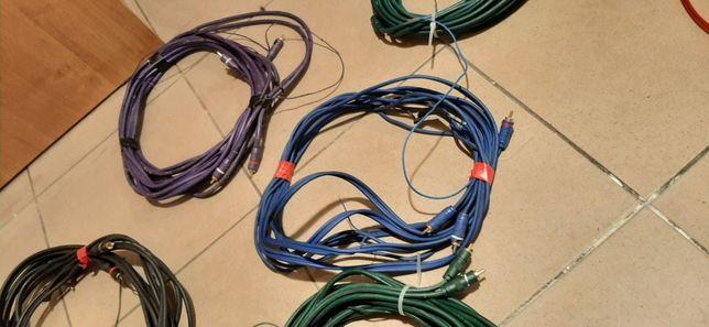 Kable do wzmacniacza chinch sygnałowe komplety