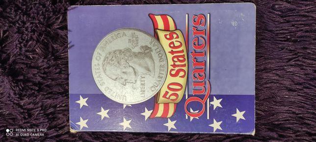 50 States Quarters коллекция монет в альбоме, идеальное состояние.