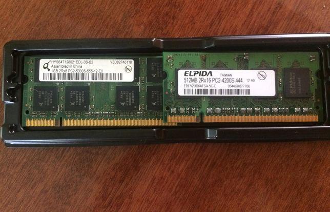 Модули памяти к ноутбуку DDR2 1GB+512mb