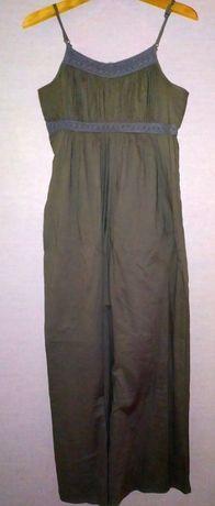 Długa szara sukienka Camaieu